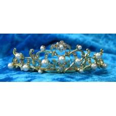 Диадема-гребешок в волосы 2,5смх8см  Цвет: золото  №831.90