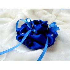 Подушечка для колец РОЗА синяя 9,0см №1748.70