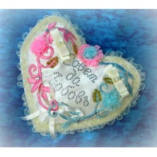 Подушечка для колец сердце  SvetikFantasy Цвет: айвори 18см №853.315