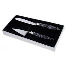 Набор  сервировочный для торта 36см Цвет: хрусталь, серебро №1675.580