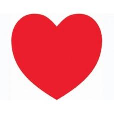 Подвеска Сердце красное 27см картон №901.15