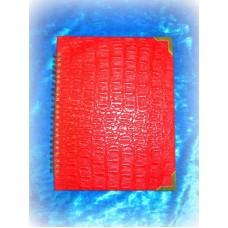 Книга для пожеланий  А5 искусственная кожа цвет:красный крокодил  №1004.156