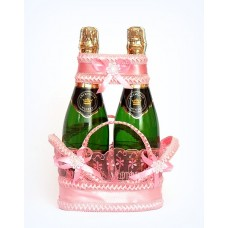 Корзиночка для бутылок Цвет розовый №2.165