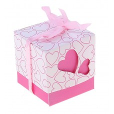 Коробочка сборная Сердца розовая