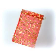 Мешочек для лепестков, конфетти, сувениров, подарков и т.п. красный, 20х30 см №920.90