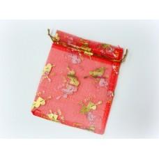 Мешочек для лепестков, конфетти, сувениров, подарков и т.п. красный, 10х12 см №921.30