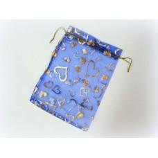 Мешочек для лепестков, конфетти, сувениров, подарков и т.п. синий, 13х18 см №922.40