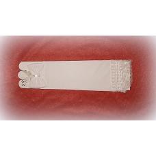 Перчатки  Белые со стразами 28см №478.255