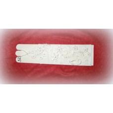 Перчатки  Белые с перламутром и бусинами, бисером, стеклярусом 28см №480.255