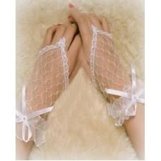 Перчатки  белые 17см №632.120