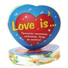 Полотенце прессованное сердце Love is 26*50 см (изображение только на этикетке) цвета в ассортименте 2,5х6,5см №1145.126