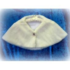 Накидка с брошкой (форма брошки может отличаться)  цвет:молоко размер:Free Size №1401.1575