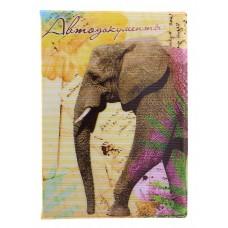 """Обложка для автодокументов """"Слон"""" 9,5х13,5см №1795.30"""