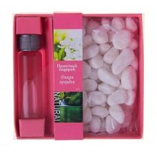 Набор подарочный (аромамасло 10 мл, камни) аромат Дикая орхидея 9х9х3см №2052.198