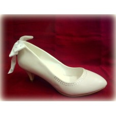 Туфли, кожа искусственная цвет: айвори №1502.975