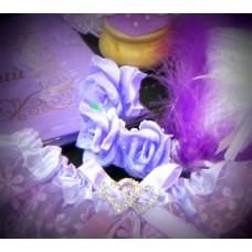 Шпилька Розочка Сиреневая 4см  Цена за 1 штуку №251.30