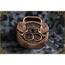 Свадебный замок любви свадебное счастье (античная бронза) Размер:7х8см (в подарочной коробке) №712.1580