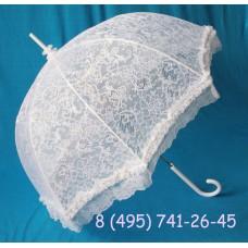 Зонт - трость белый Кружево  №353.1800